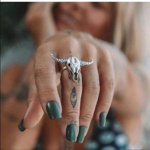 🎉5 for $25🎉 Silver Bull Skull Ring